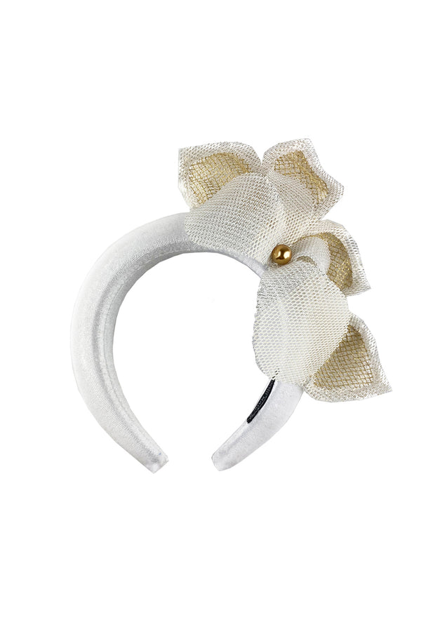 White flower-headband