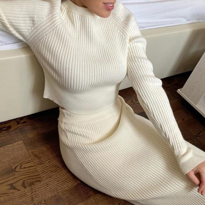 I'M LOGiiC | High Quality Women's Clothing | Knitted Two Piece Set