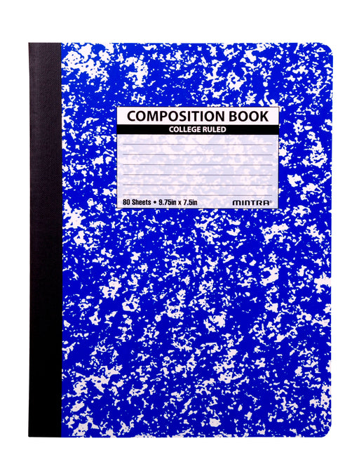 Assorted Marble Composition Books (College Ruled, 4 Pack) - Mintra USA