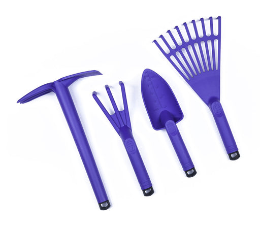 Garden Tools  - (4 Pack Cultivator, Trowel, Shovel, Claw, Rake) - Mintra USA