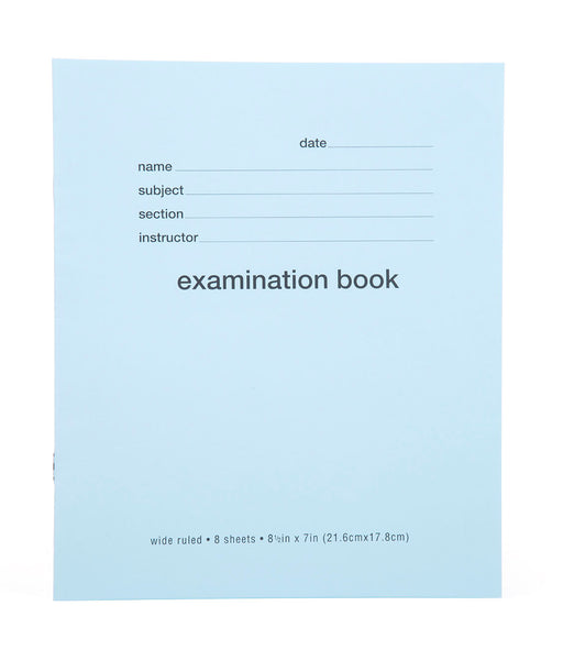 Blue Exam Books Wide Ruled - Mintra USA