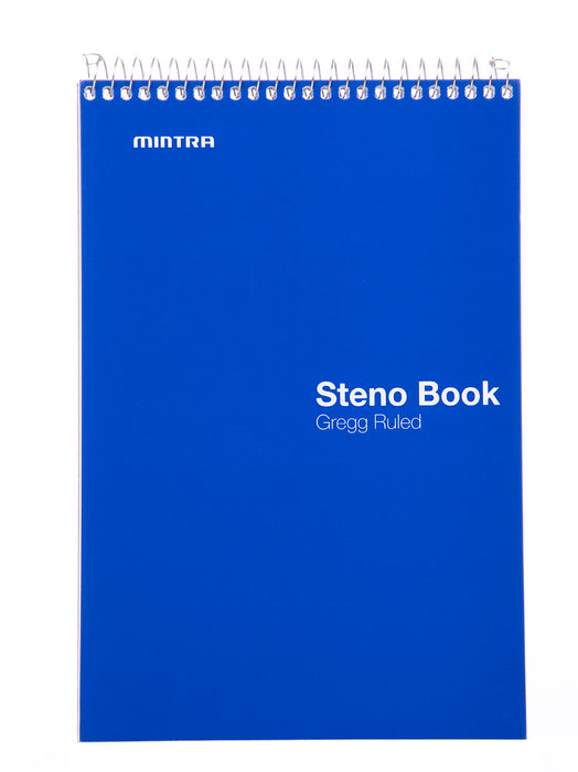 Steno Books - (Primary 4 Pack, Green Tint Paper, Gregg Ruled) - Mintra USA