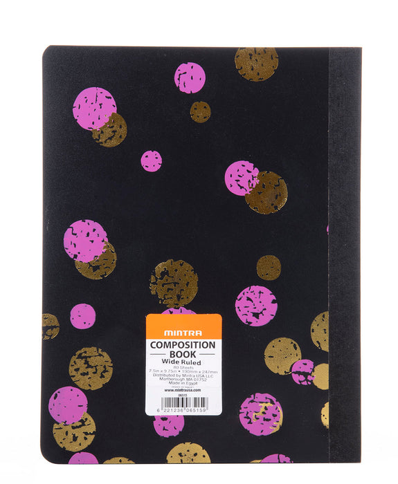 Fashion Bounce Poly Composition Book (3 Pack) - Mintra USA