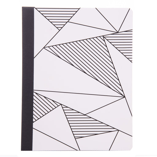 Black & White Geo Pattern Composition Book College Ruled  (3 Pack) - Mintra USA