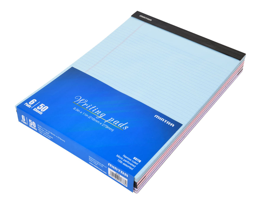 Basic Pastel Legal Pads - 6 Pack - Mintra USA