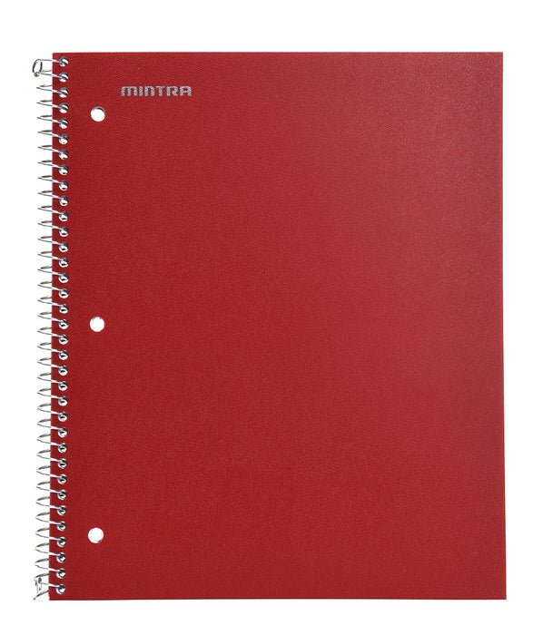 Spiral Durable Notebooks, 3 Pack (1 Subject, Wide Ruled) - Mintra USA