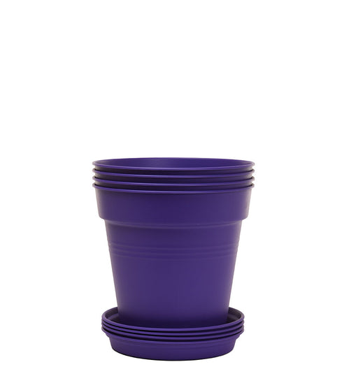 Round Plant Pots With Base (4 Pack, 4.3in) 11 Cm - Mintra USA
