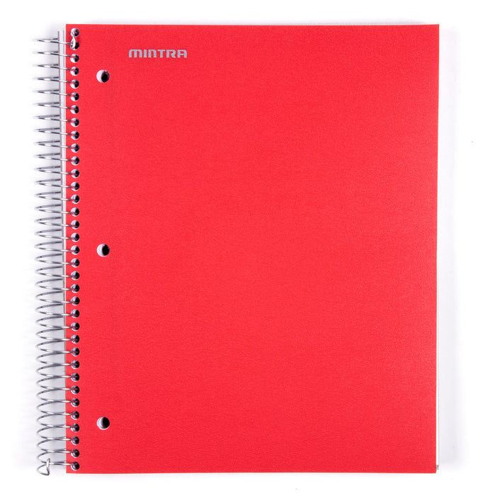 Spiral Durable Notebooks (5 Subject, College Ruled) - Mintra USA
