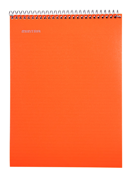 Top Bound Spiral Notebook (Black, Green, Orange, College Ruled 3pack) - Mintra USA