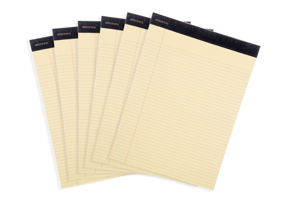Basic Canary Legal Pads - 6 Pack - Mintra USA