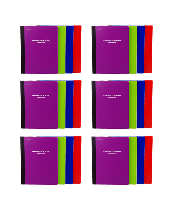 Mintra Office-Composition Books (Poly Comp - College Ruled) 24 Pack - Mintra USA