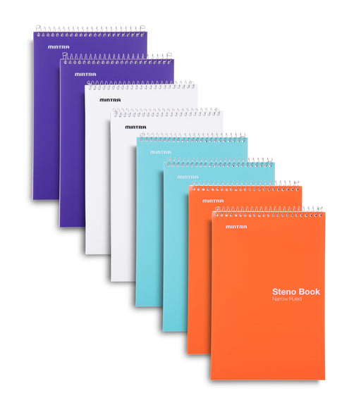 Poly Pastel Steno Books (8 Pack) - Mintra USA