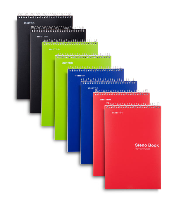 Poly Primary Colors Steno Books (8 Pack) - Mintra USA