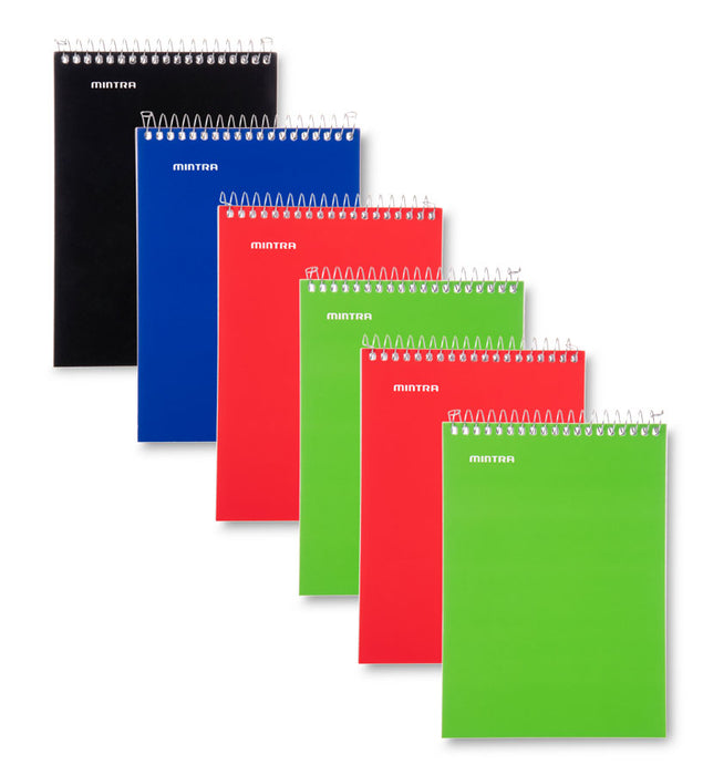 Memo Pads (3x5 Top Spiral 6 Pack - Primary) - Mintra USA