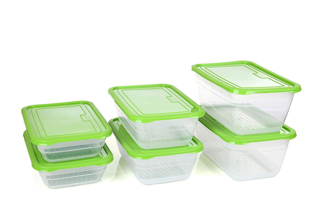 Food Storage Containers (Assorted - 3 sizes, 6 Pack) - Mintra USA