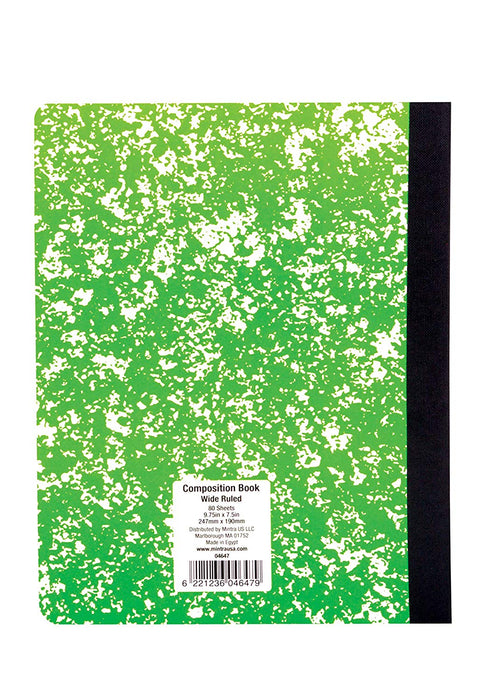 Assorted Marble Composition Books (Wide Ruled, 4 Pack) - Mintra USA