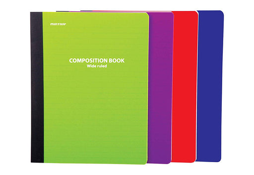 Assorted Solid Poly Composition (Wide Ruled, 4 Pack) - Mintra USA