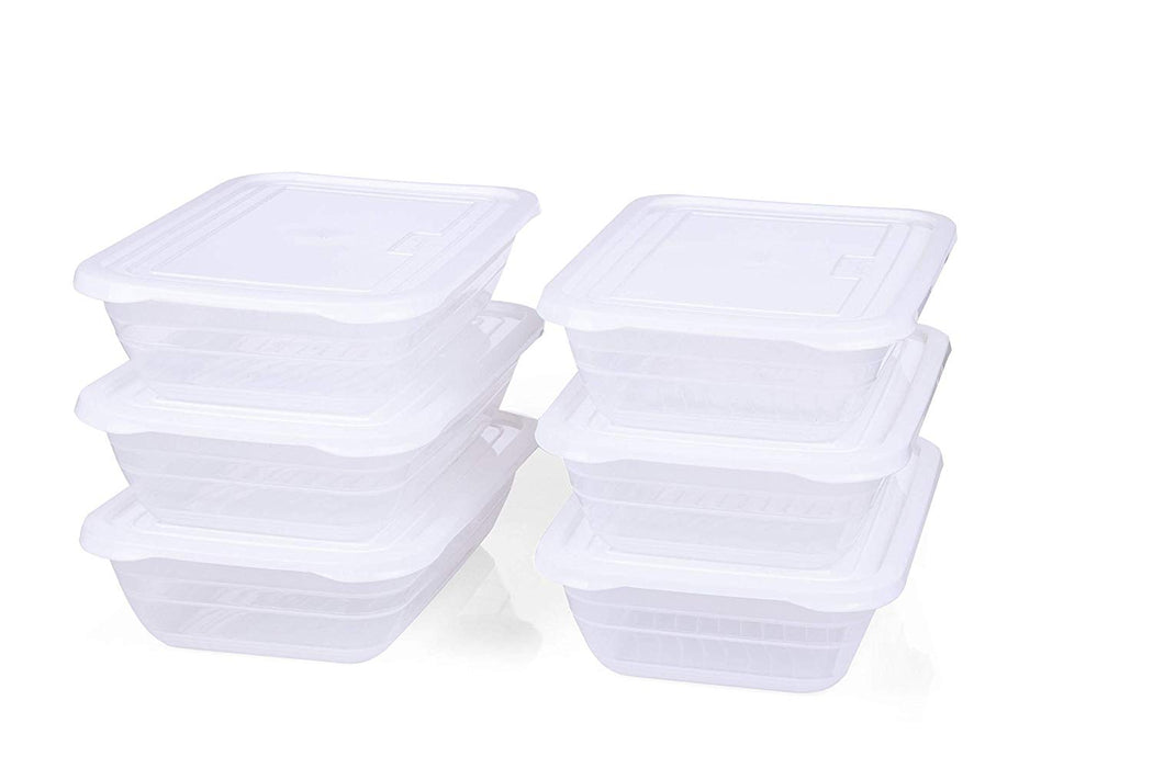 Food Storage Containers (Small 2.3L, 6 Pack) - Mintra USA