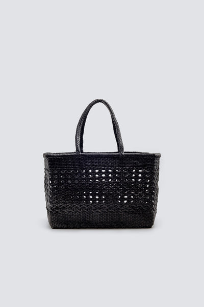 Dragon Diffusion woven leather bag Cannage Max Wrapped Black