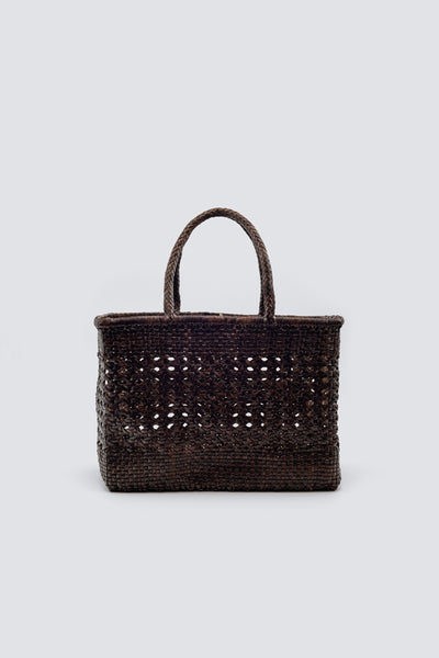 Dragon Diffusion woven leather bag Cannage Max Wrapped Dark Brown