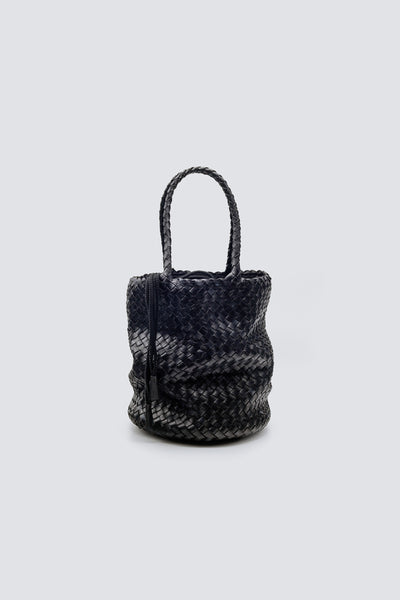 Dragon Diffusion woven leather bag Jackie Bucket Lining Black