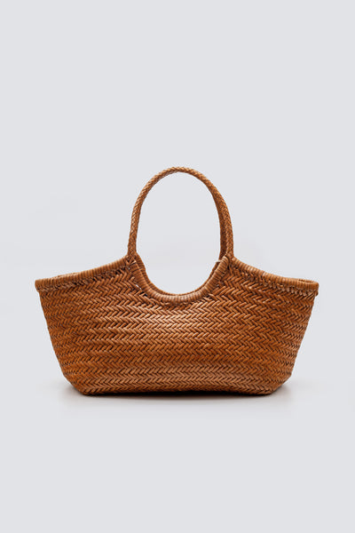 Dragon Diffusion woven leather bag Nantucket Big Tan