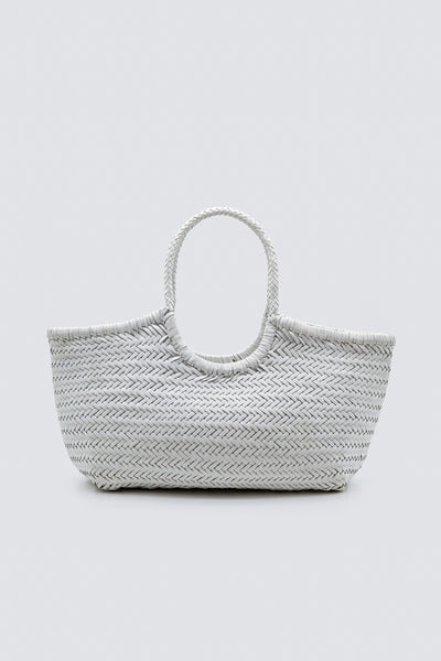 Dragon Diffusion woven leather bag Nantucket Basket Big White