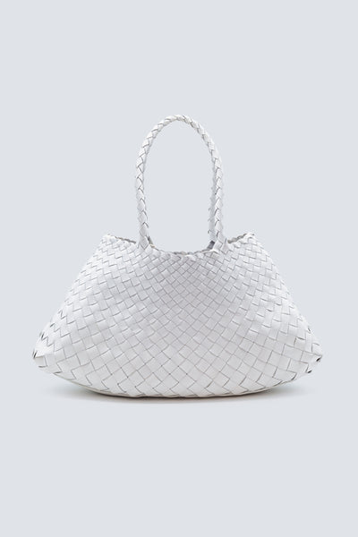 Dragon Diffusion woven leather bag Santa Croce Big White