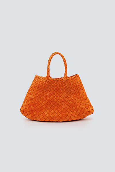 Dragon Diffusion woven leather bag Santa Croce Small Orange
