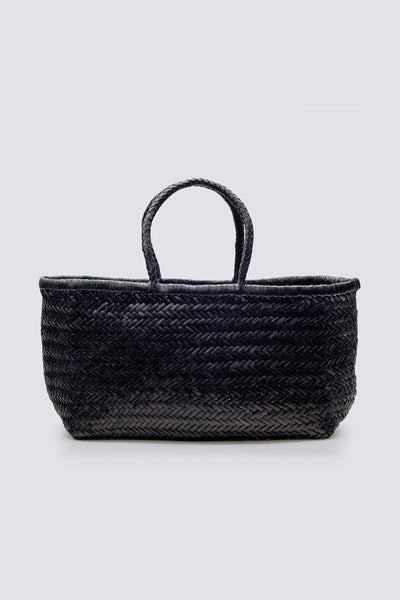 Dragon Diffusion woven leather bag Triple Jump Big Black