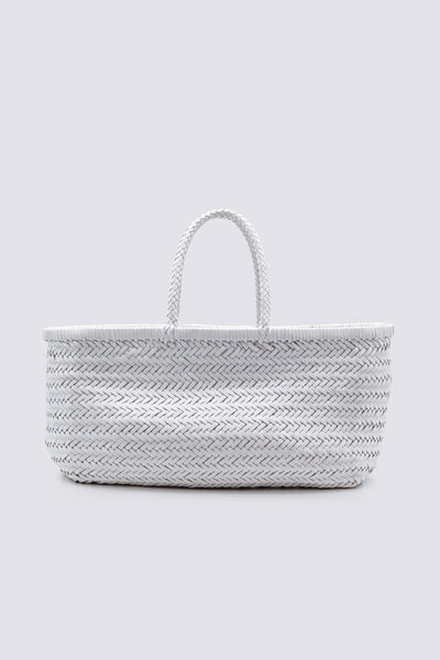 Dragon Diffusion woven leather bag Triple Jump Big White