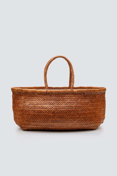 Dragon Diffusion woven leather bag Triple Jump Big Tan