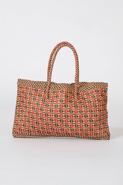 Dragon Diffusion woven leather bag Maori Kete Red
