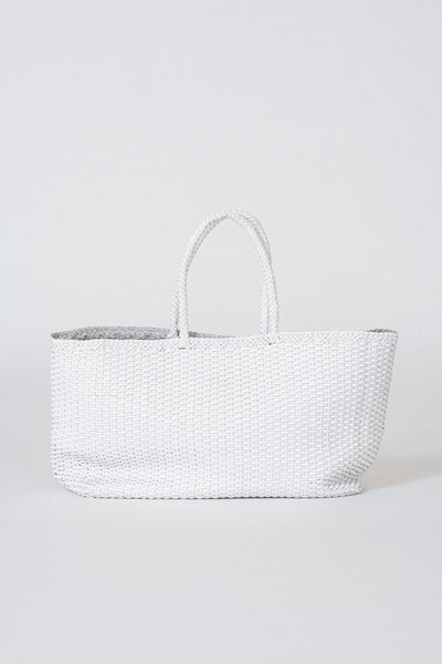Dragon Diffusion woven leather bag Shopper Big White