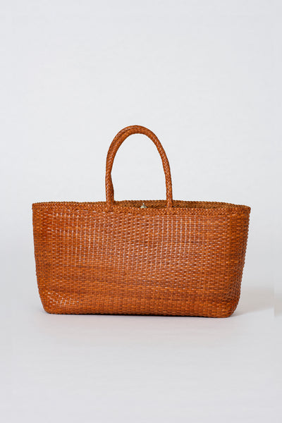 Dragon Diffusion woven leather bag Shopper Big Tan