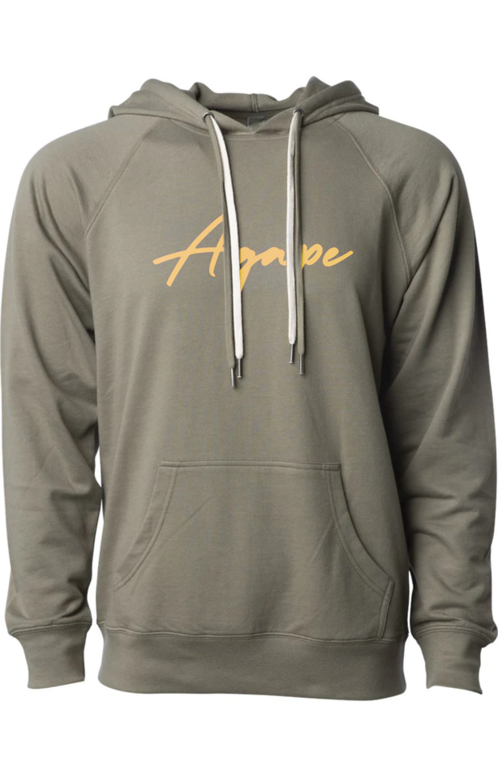 AGAPE gold script fashion hoodie (olive)