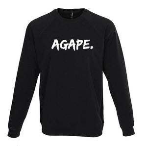 Agape raglan sweatshirt (black/white)