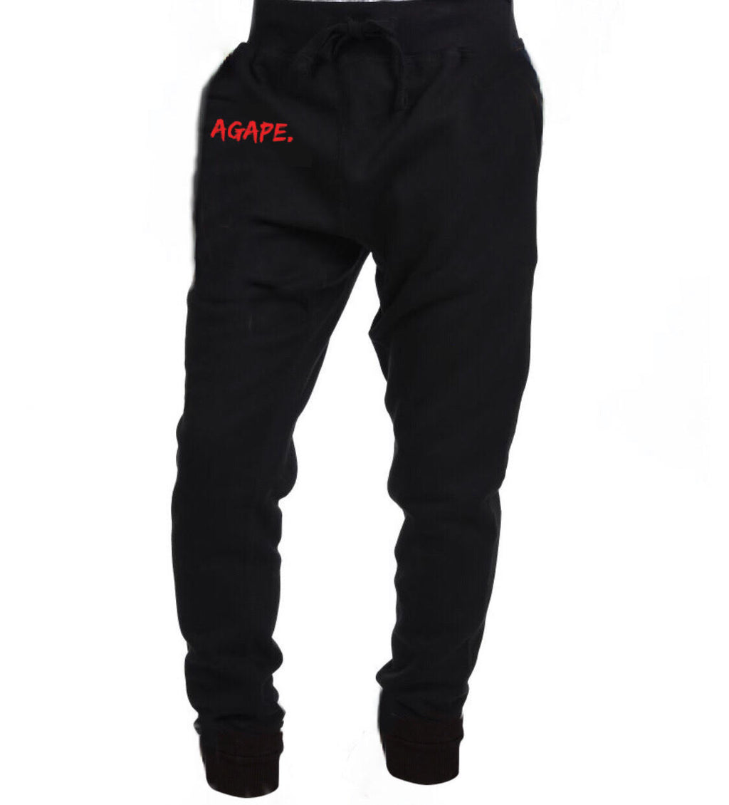 AGAPE 14th logo joggers (black/red)