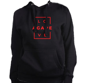 AGAPE 14th hoodie (black/red)
