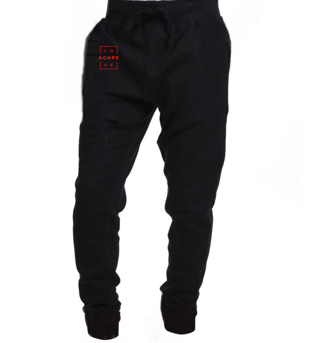 AGAPE 14th joggers (black/red)