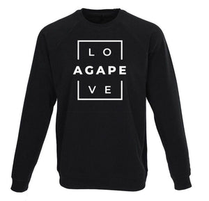 AGAPE 14th sweatshirt (black/white)