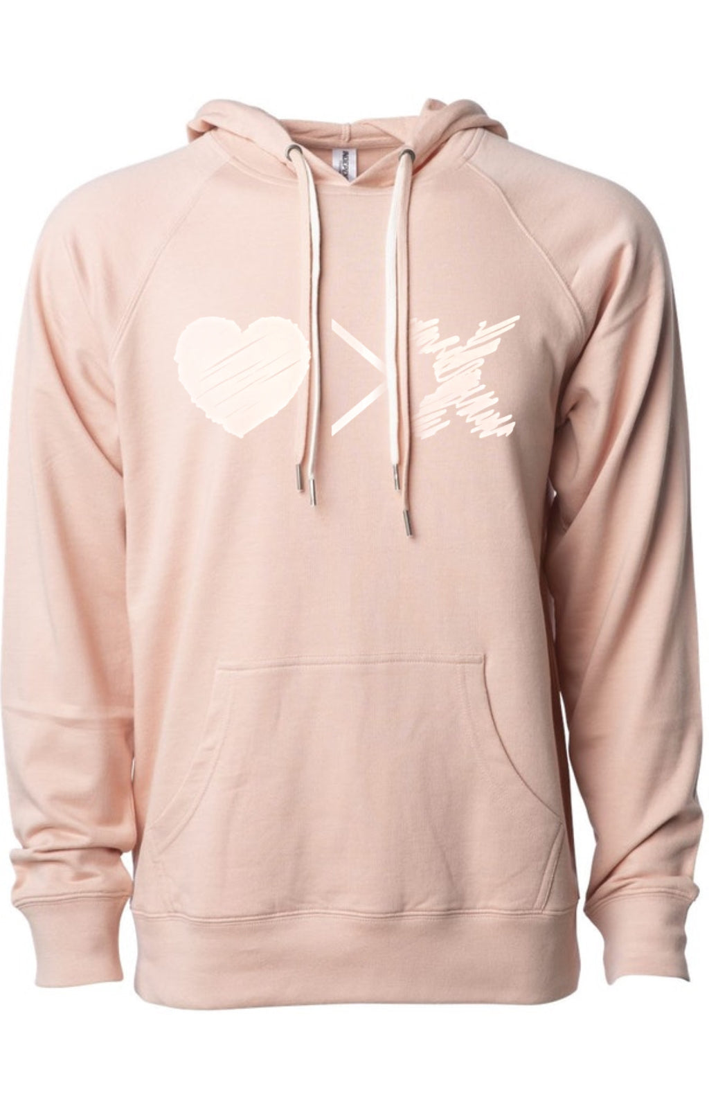 LIMITED EDITION: Rose Gold on Rose hoodie