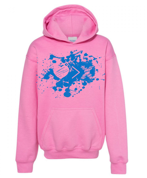 Pink/Blue Paint Splash Logo hoodie (Toddler and Youth)