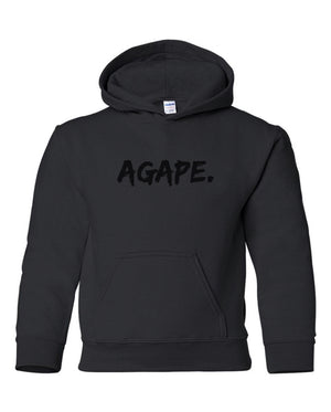 Black/Black Agape hoodie (Toddler and Youth)