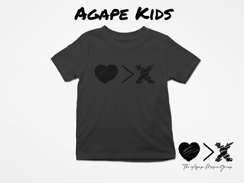 Black/Black Logo T-shirt (Toddler and Youth)