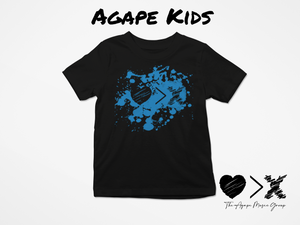 Black/Blue Paint Splash Logo T-shirt (Toddler and Youth)