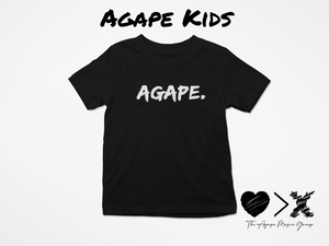 Black/White Agape T-shirt (Toddler and Youth)