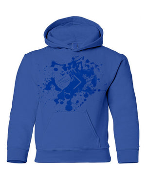 Blue/Blue Paint Splash Logo hoodie (Toddler and Youth)