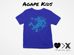 Blue/Blue Paint Splash Logo T-shirt (Toddler and Youth)