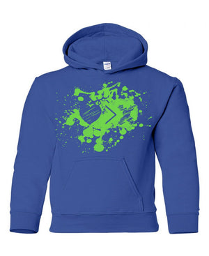 Blue/Green Paint Splash Logo hoodie (Toddler and Youth)